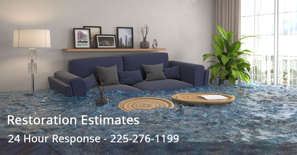 Water Mitigation Estimator in Lafayette, LA