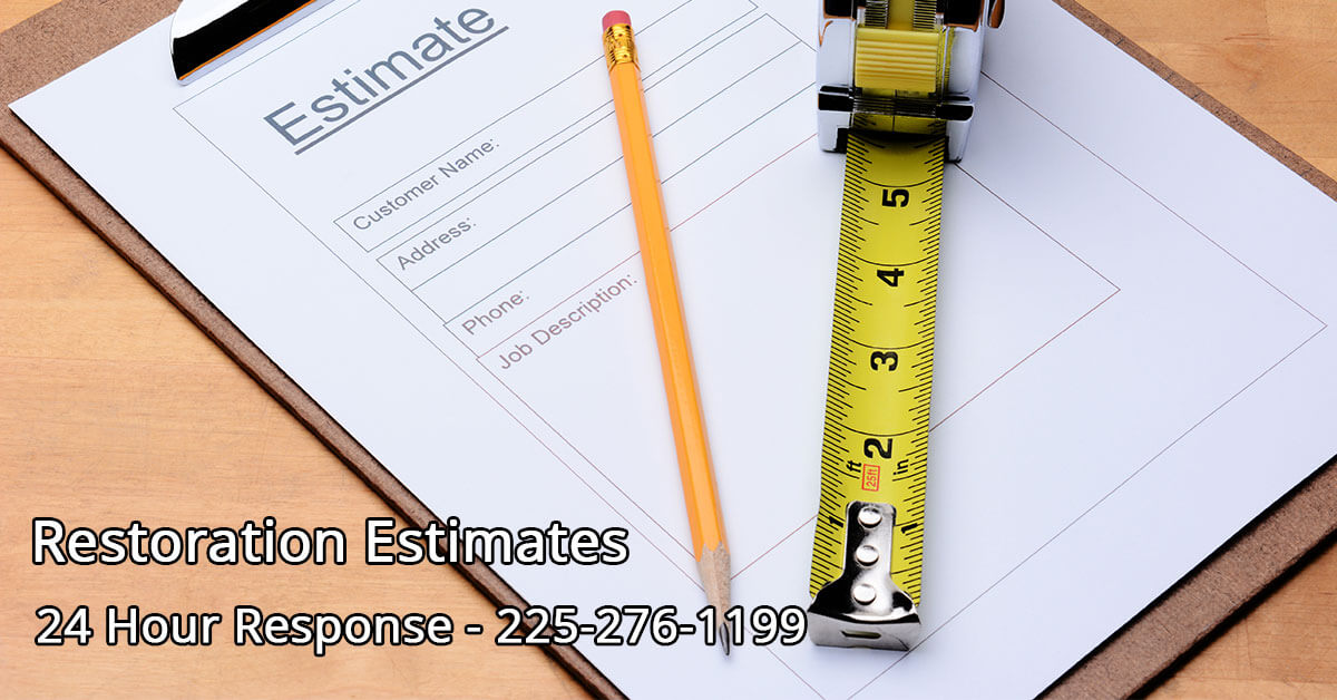 Restoration Mitigation Estimator in Monroe, LA