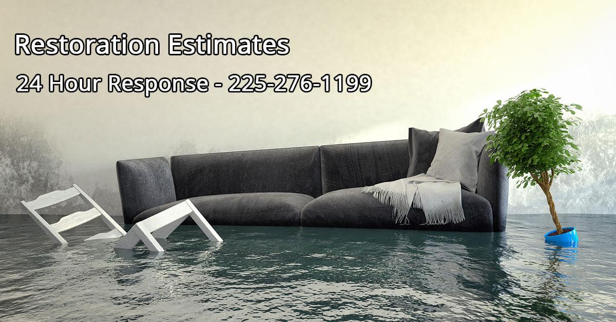 Water Mitigation Estimator in Lafayette, LA