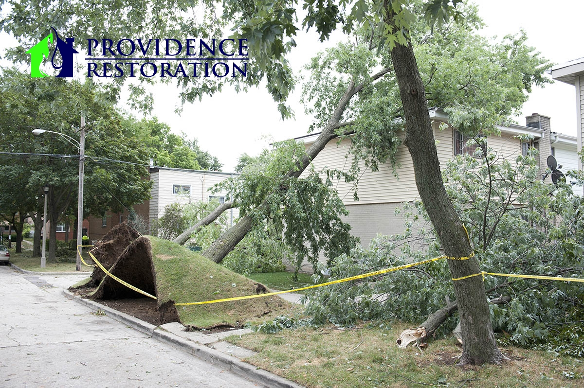 Wind Damage Restoration in Charlotte, NC