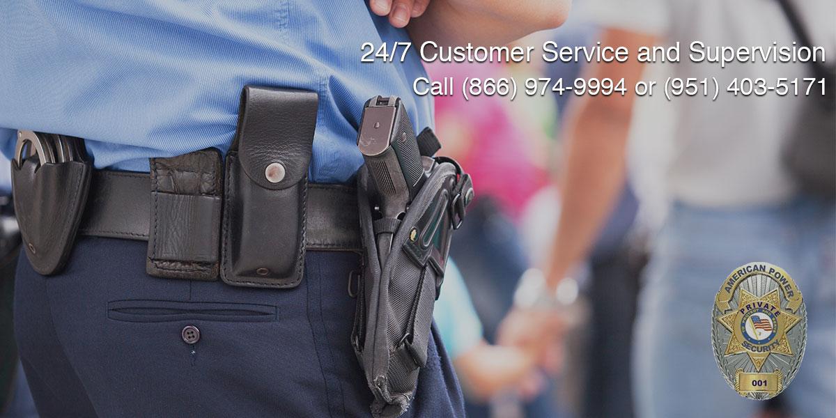 On-site Plain-clothes Officers in San Bernardino, CA