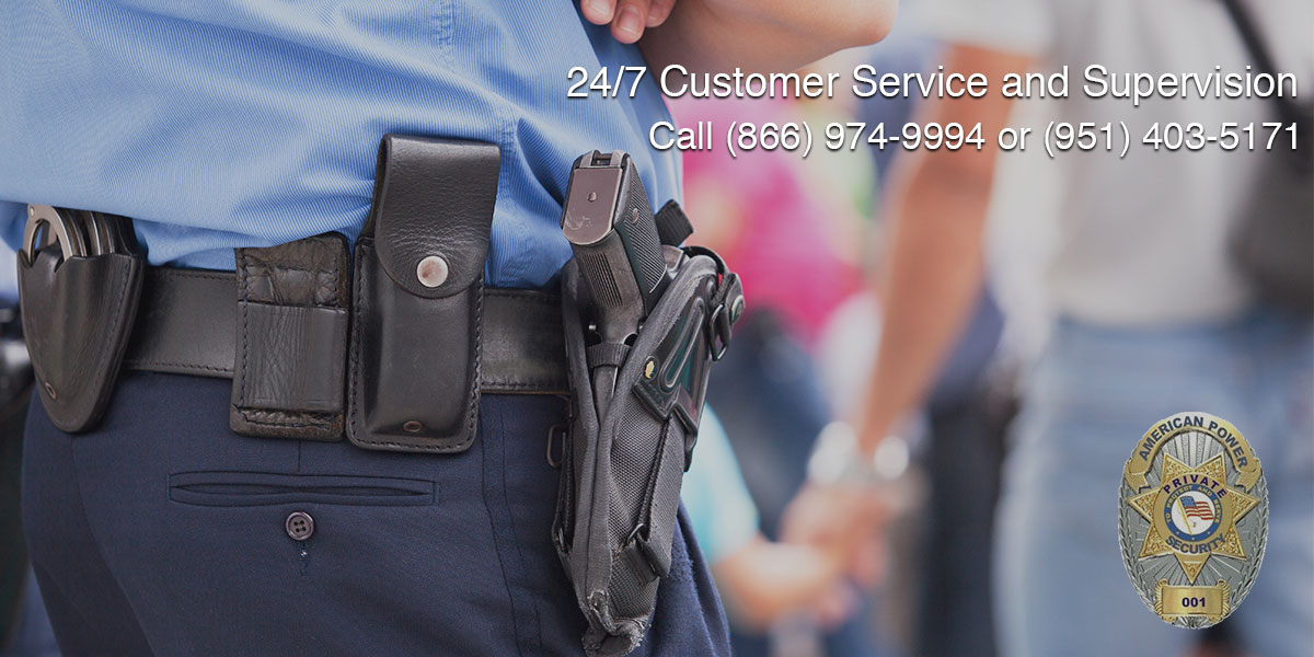 On-site Plain-clothes Officers in Corona, CA