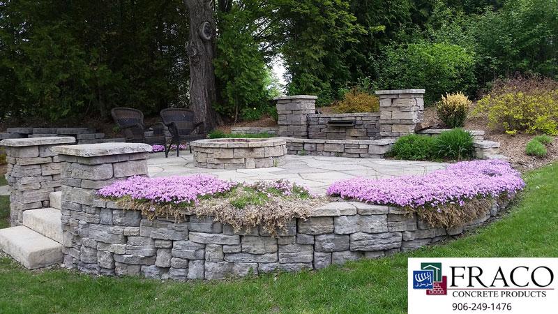 Landscaping limestone in Negaunee, MI