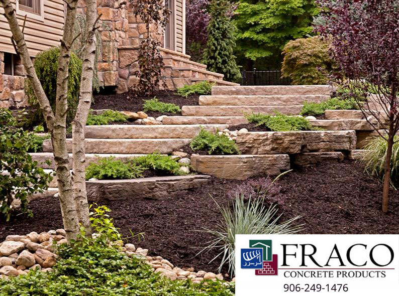 Landscaping steps in Negaunee, MI