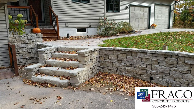 Landscaping retaining walls in Marquette, MI