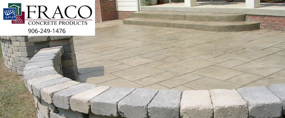 Concrete blocks in Cascade, MI