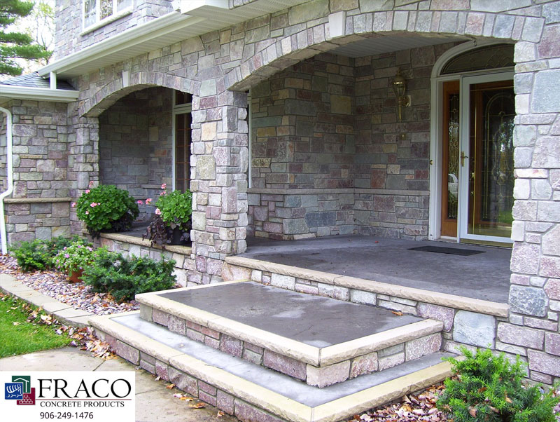 Concrete steps in Munising, MI